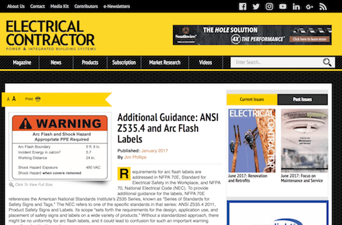 Additional Guidance ANSI Z5354 and Arc Flash Labels