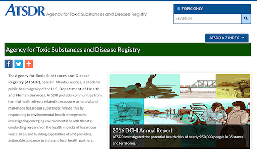 Agency for Toxic Substance and Disease Registry (ATSDR) Databases