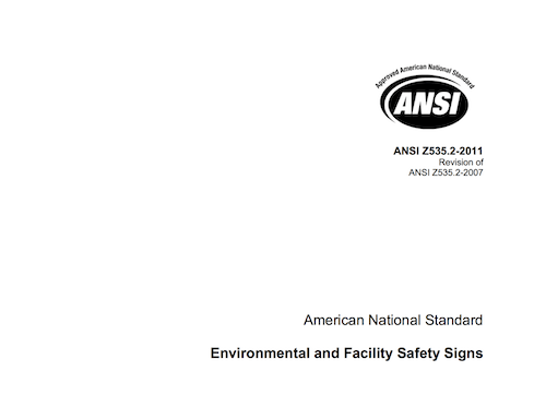 American National Standard Environmental and Facility Safety Signs