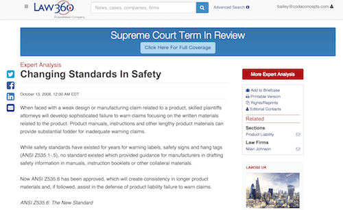 Changing Standards In Safety