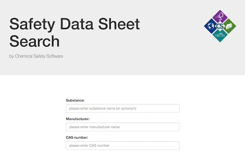Chemical Safety Software Safety Data Sheet Search