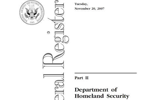 Department of Homeland Security Chemicals of Interest
