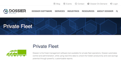 Dossier Systems Fleet Management Software for Private Fleet
