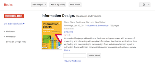 Information Design Research and Practice