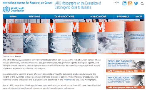 International Agency for Research on Cancer (IARC): Carcinogen Listing