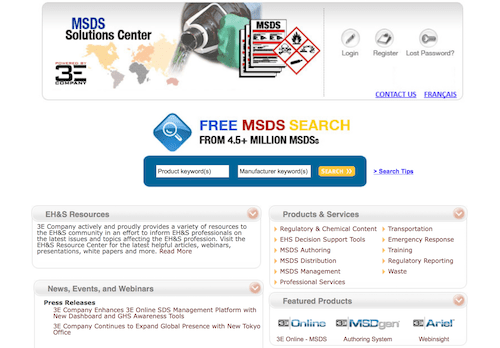MSDS Solutions Center