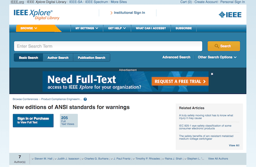 New editions of ANSI standards for warnings