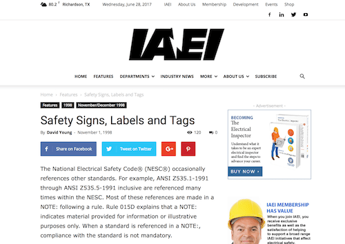 Safety Signs Labels and Tags