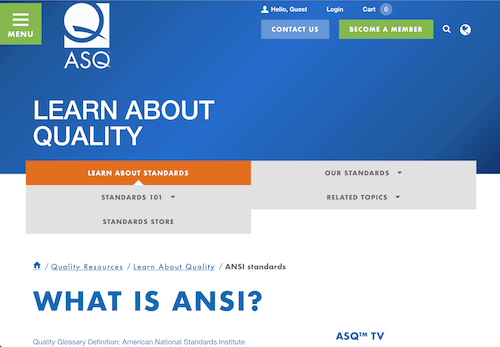 What is ANSI