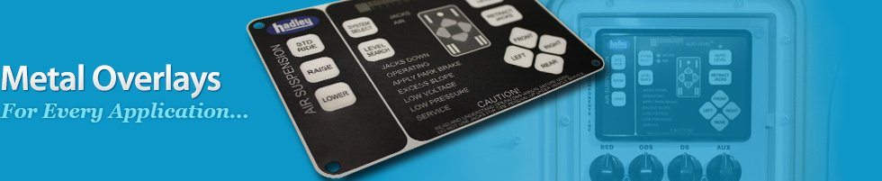 metal overlays for every application - metal equipment faceplate overlay