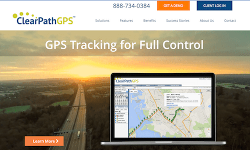 ClearPathGPS fleet tracking solution and mobile app