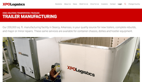 XPO Logistics Trailer Manufacturing