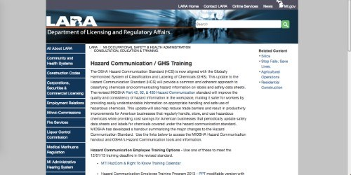 michigan's department of licensing and regulatory affairs