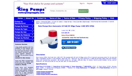 Rule Pumps 1100 GPH