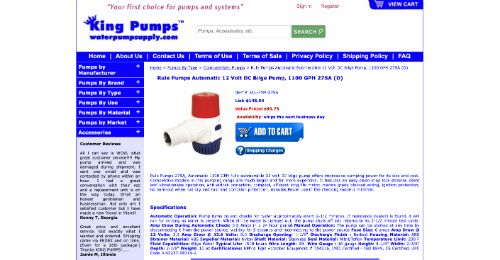 Rule Pumps Automatic 1100 GPH