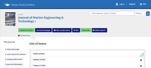 Journal of Marine Engineering and Technology