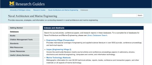 Naval Architecture and Marine Engineering - M Library Research Guides