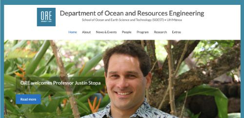 Department of Ocean and Resources Engineering at the University of Hawai'i at Manoa