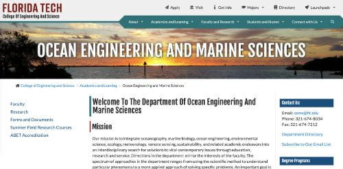Florida Tech College of Engineering and Science