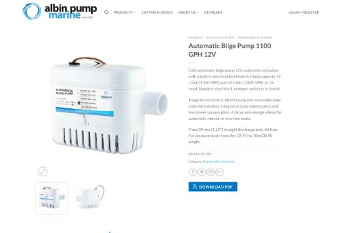 albin pump Automatic Bilge Pump 1100