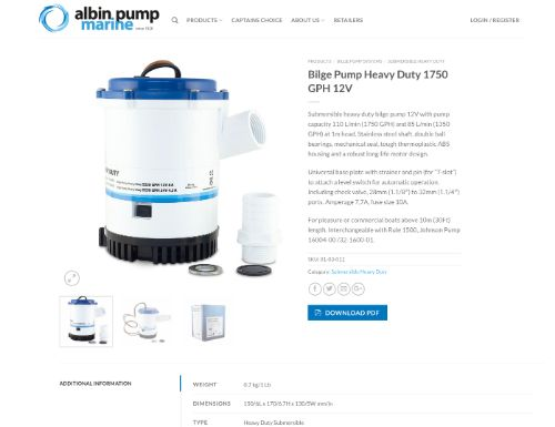albin pump Heavy Duty 1750