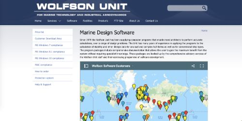 Wolfson Unit Marine Design Software