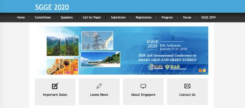 Smart Grid and Green Energy (SGGE) Conference