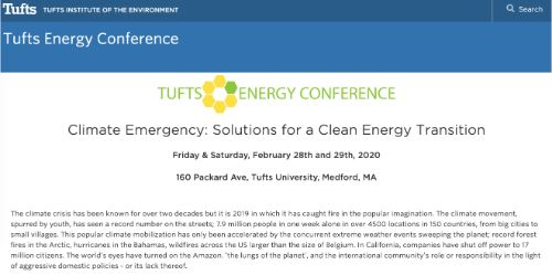 Tufts Energy Conference 2020