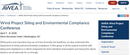 Wind Project Siting and Environmental Compliance Conference