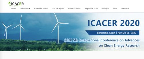 International Conference on Advances on Clean Energy Research (ICACER)